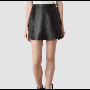 ALLSAINTS genuine leather mini skirt